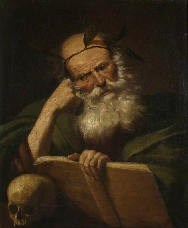Philosopher & skull