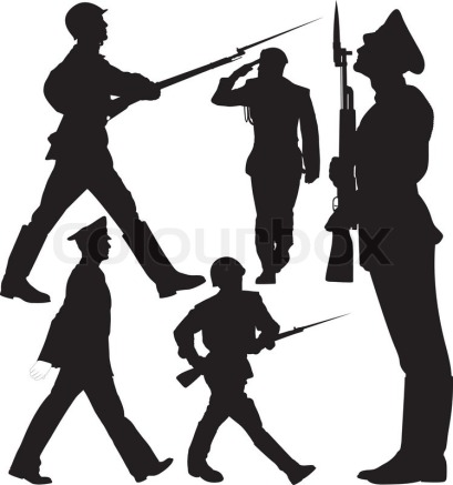 marching-and-sentry-guard-vector-silhouettes-layered-fully-editable