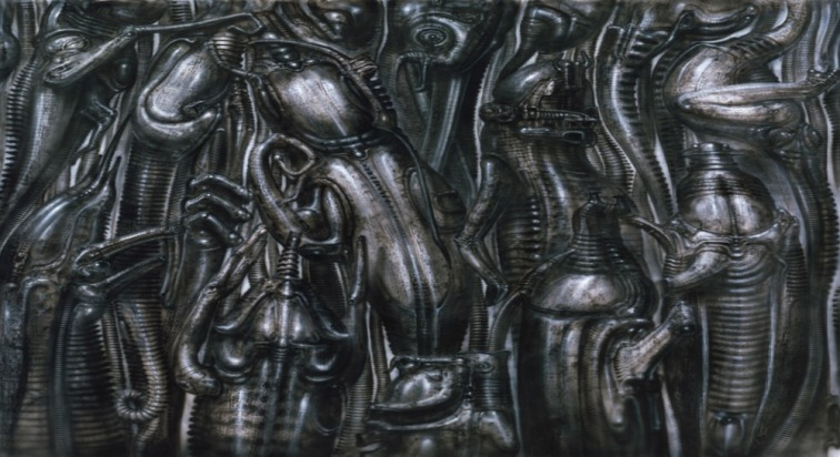 Art-Poster-Hr-Giger-Li-II-Fabric-poster-43-x24-24-x13-Decor-14