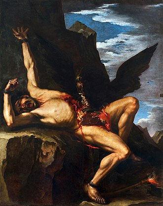 The Torture of Prometheus, painting by Salvator Rosa (1646-1648).