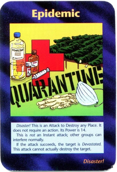 Epidemic card
